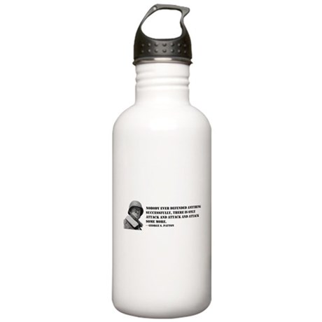 Patton Quote - Attack Stainless Water Bottle 1.0L