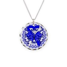 ALS Disease Butterfly Necklace