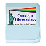 Outright Libertarians baby blanket