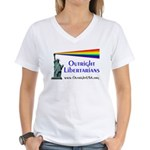 Outright Libertarians Women's V-Neck T-Shirt