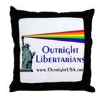Outright Libertarians Throw Pillow