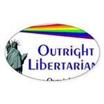 Outright Libertarians Sticker (Oval 10 pk)