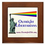 Outright Libertarians Framed Tile