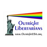 Outright Libertarians 38.5 x 24.5 Wall Peel