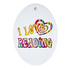 I Love Reading Ornament (Oval)