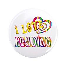 "I Love Reading 3.5"" Button"