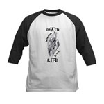 Death is Certain Life is Not Kids Baseball Jersey