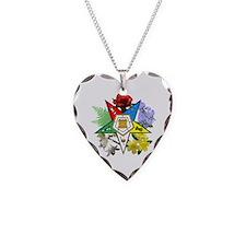 Eastern Star Floral Emblems Necklace