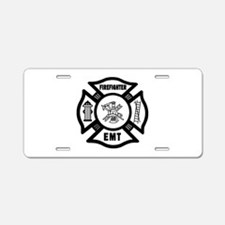 Firefighter EMT Aluminum License Plate