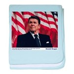 Reagan on Liberal Friends baby blanket
