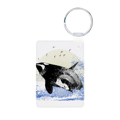 Killer Whale Aluminum Photo Keychain