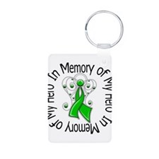 Angel In Memory Bile Duct Aluminum Photo Keychain