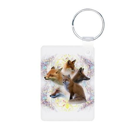 Foxes Aluminum Photo Keychain