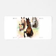 Celestial Horses Aluminum License Plate