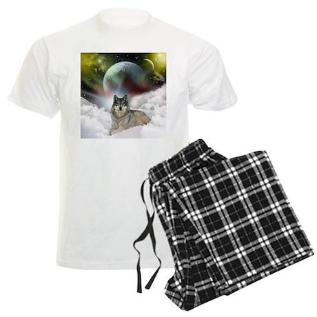 Fantasy Wolf Men's Light Pajamas