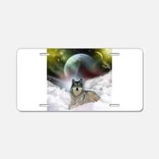 Fantasy Wolf Aluminum License Plate