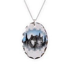 Cute Wildlife Necklace Oval Charm