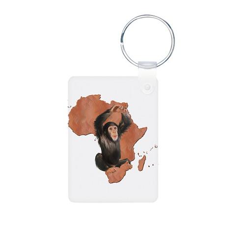 Africa Chimp Aluminum Photo Keychain