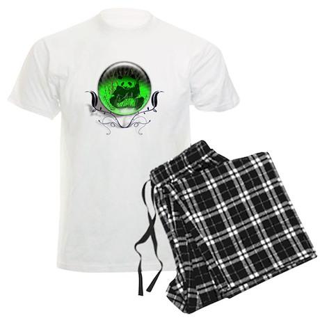 Panda Orb Green Men's Light Pajamas