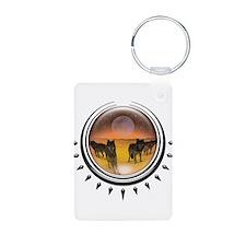 Wolf Orb Orange Keychains