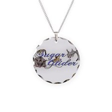 Sugar Glider Necklace Circle Charm