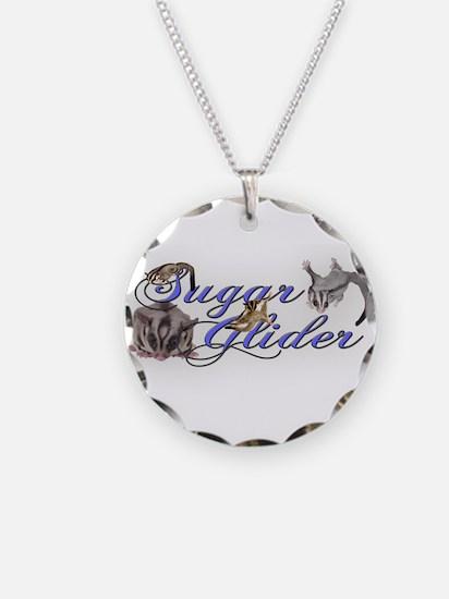Sugar Glider Necklace Circle Charm