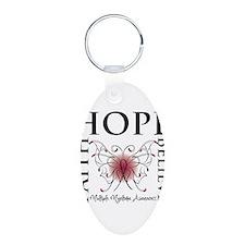 Hope Faith Believe Myeloma Aluminum Oval Keychain
