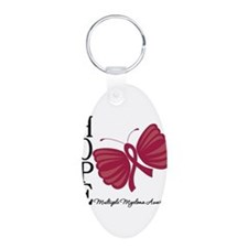 Hope Butterfly - Myeloma Aluminum Oval Keychain