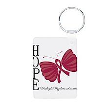 Hope Butterfly - Myeloma Aluminum Photo Keychain