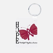 Hope Butterfly - Myeloma Aluminum Photo Keychain