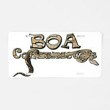Boa Aluminum License Plate