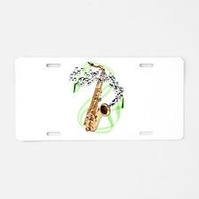 Tenor Saxophone Aluminum License Plate