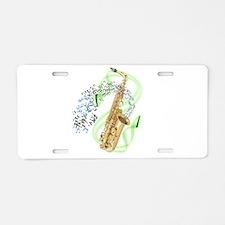 Alto Saxophone Aluminum License Plate