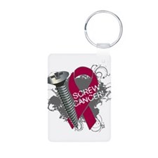 Screw Cancer - Myeloma Aluminum Photo Keychain