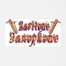 Baritone Saxophone Aluminum License Plate