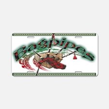 Bagpipes Aluminum License Plate