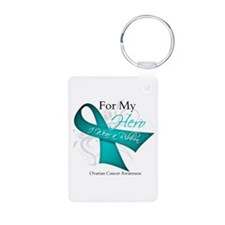 For My Hero Ovarian Cancer Keychains