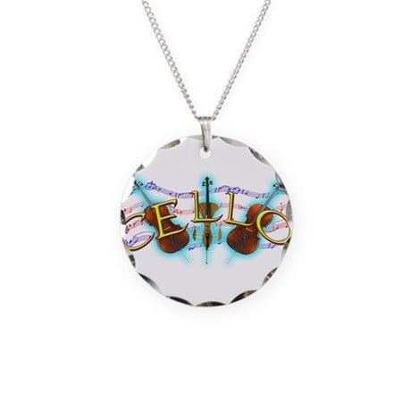 Cello Necklace Circle Charm