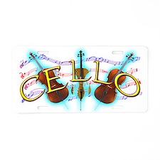 Cello Aluminum License Plate