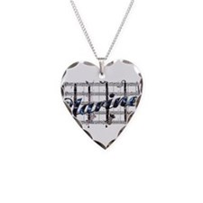 Clarinet Necklace Heart Charm