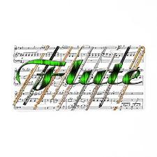 Flute Aluminum License Plate