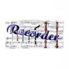 Recorder Aluminum License Plate