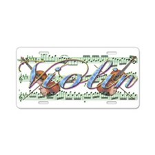 Violin Aluminum License Plate