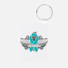 Ovarian Cancer Survivor Keychains