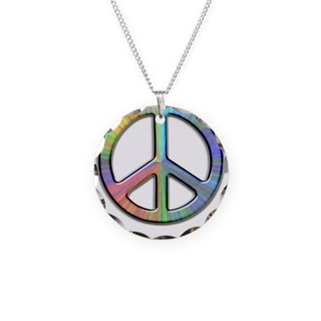 peace necklace circle charm by sbgraphics