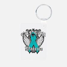 Ovarian Cancer Warrior Keychains