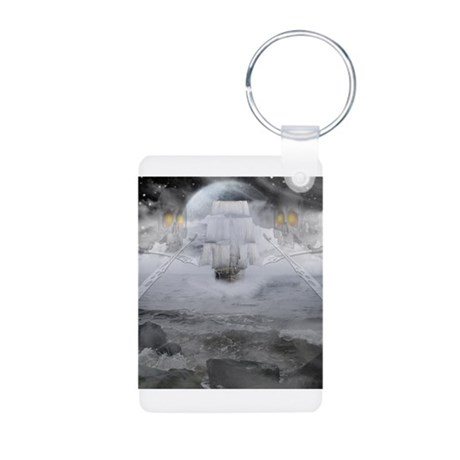 Ghost ship Aluminum Photo Keychain