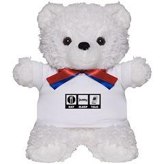 Eat Sleep Talk Teddy Bear