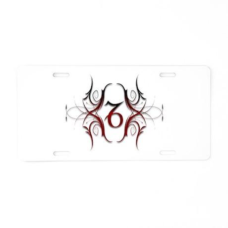 Capricorn Red 1 Aluminum License Plate