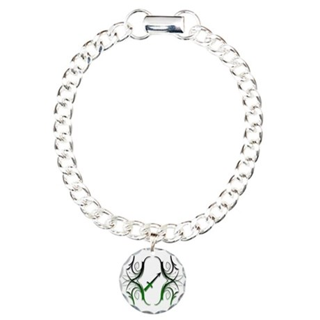 Sagittarius Green 1 Charm Bracelet, One Charm